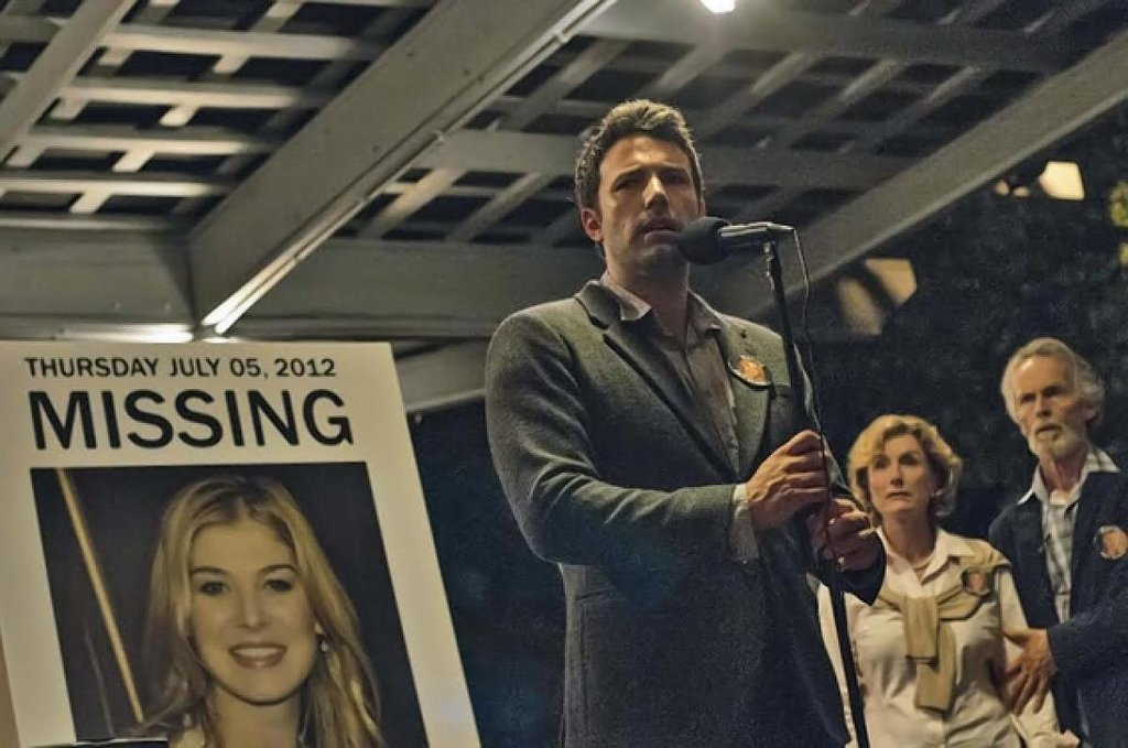 In the first 'Gone Girl' trailer Ben Affleck fights against public perception and an ironic soundtrack