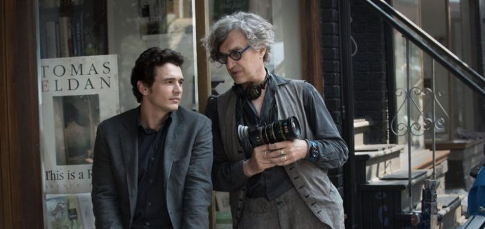 "James Franco and Wim Wenders, on the set of ""Every Thing Will Be Fine"""