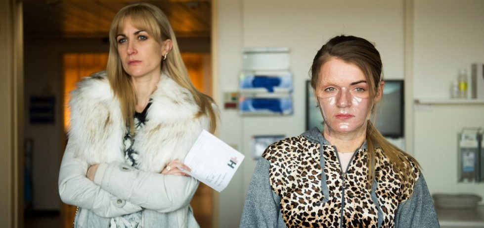 Vicky Knight and Katherine Kelly in Dirty God